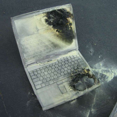laptop fire